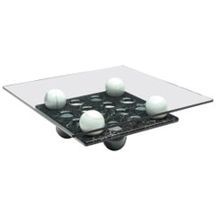 Italian Coffee Table in Glass and Marble