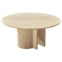 Italian Coffee Table in Travertine