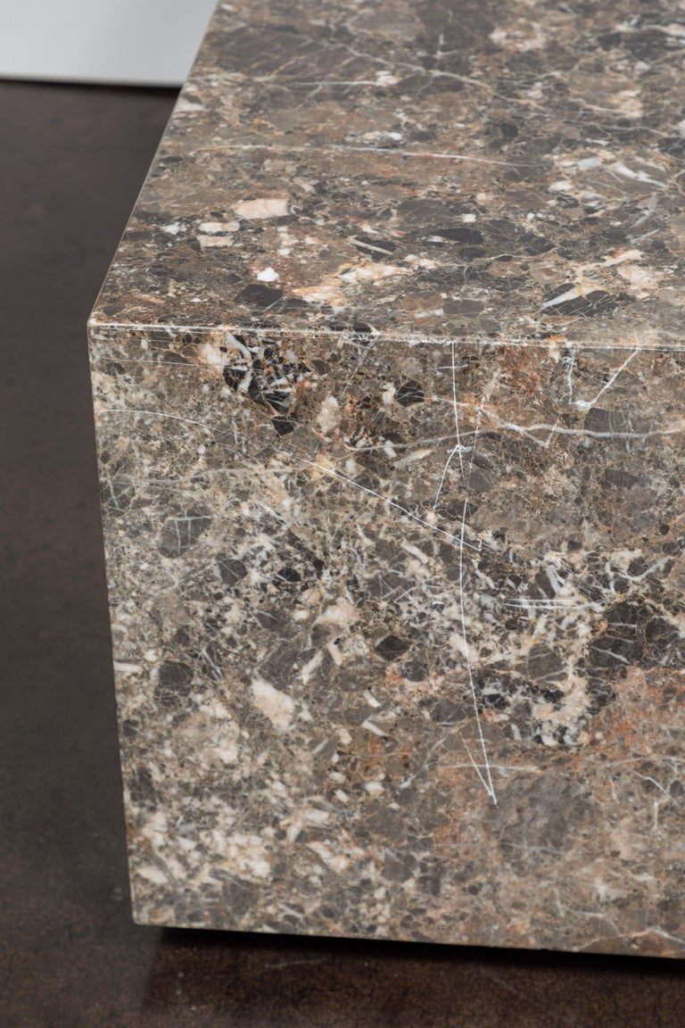 Italian Coffee Table of Emperador Marble, 1980s For Sale 1