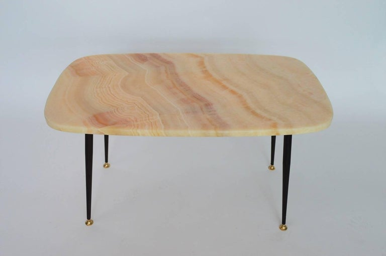 Italian Coffee Table Or Side With Pink Marble Top 1950s For 1