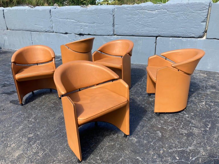 Beautiful leather armchairs. High quality, can used as dining chairs or desk chair.
