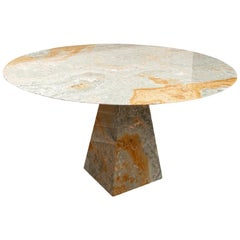 Italian Colored Stone Dining/Center Table in the Style of Angelo Mangiarotti