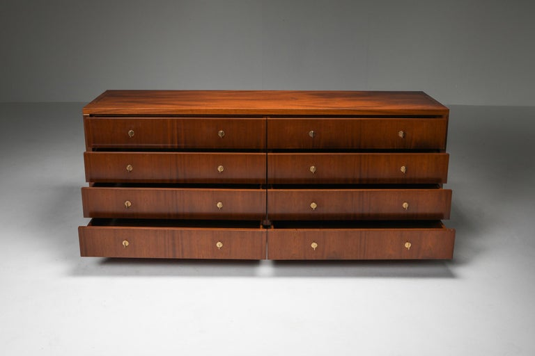 Mid-Century Modern Italian Commode with Drawers Attributed to Carlo Scarpa For Sale