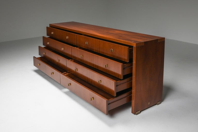 Italian Commode with Drawers Attributed to Carlo Scarpa In Excellent Condition For Sale In Antwerp, BE