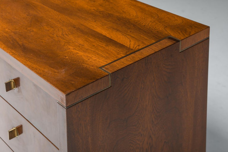 Italian Commode with Drawers Attributed to Carlo Scarpa For Sale 3