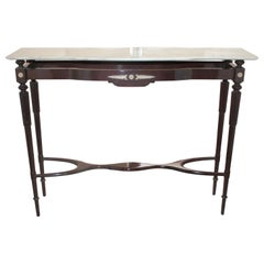 Italian Console Marble top and Wood 1940s Paolo Buffa Style Art Deco