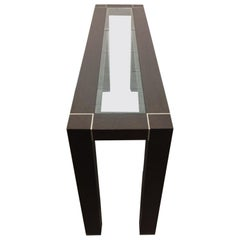 Italian Console with Pewter Inlay