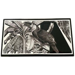 """Italian Contemporary """"Black and Wild"""" Collection Toucan Wood Box"""