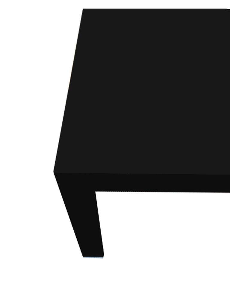 Italy Contemporary Design Black Glass Dining Table in Minimal Style For Sale 10