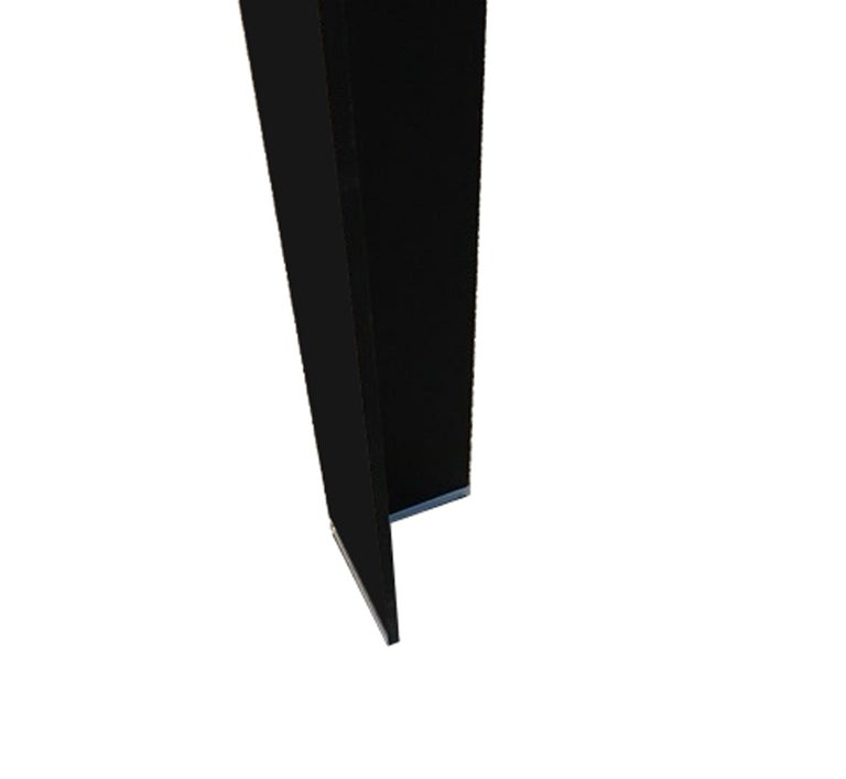 Italy Contemporary Design Black Glass Dining Table in Minimal Style For Sale 2