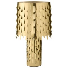 Italian Contemporary Design Ghidini 1961 Brass Table Lamp by Campana Brothers