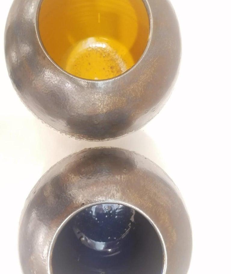 Italian Contemporary Unique Glazed Ceramic Vases with Spherical Shape, Minori In Excellent Condition For Sale In Milano, IT