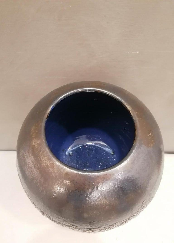 Italian Contemporary Unique Glazed Ceramic Vases with Spherical Shape, Minori For Sale 1