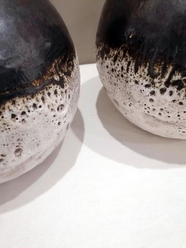 Italian Contemporary Unique Glazed Ceramic Vases with Spherical Shape, Minori For Sale 3