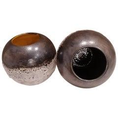 Italian Contemporary Unique Glazed Ceramic Vases with Spherical Shape, Minori