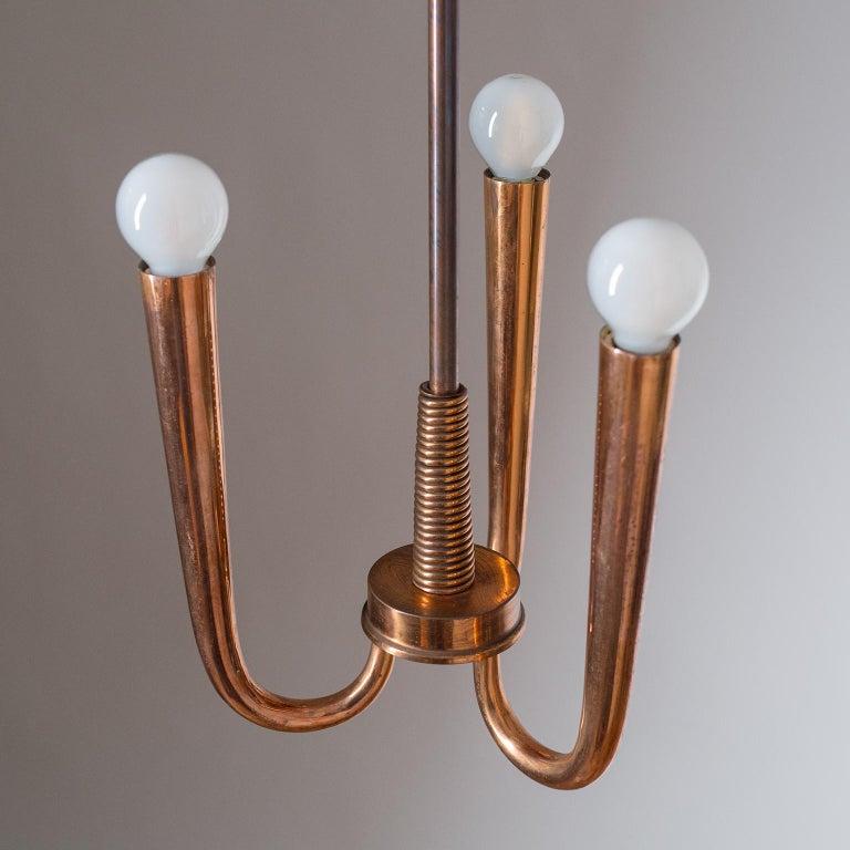 Italian Copper Chandelier, 1930s For Sale 2