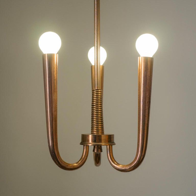 Italian Copper Chandelier, 1930s For Sale 4