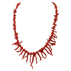 Italian Coral Branches, Retrò/Vintage Necklace