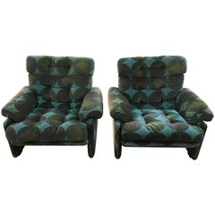 Italian Coronado Set C&B by Tobia Scarpa with Velvet Upholstery from 1970s