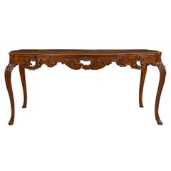 Italian Country 18th Century Louis XV Period Walnut Dining Table
