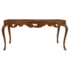 Italian Country 18th Century Louis XV Period Walnut Dining Table