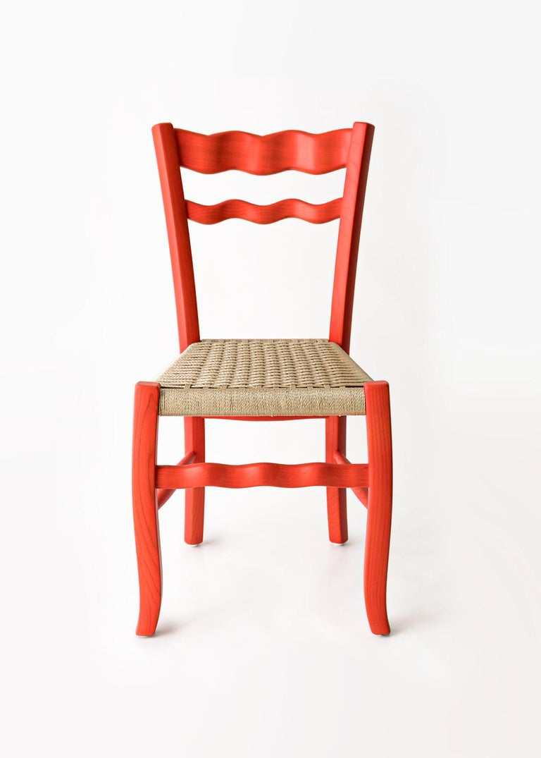 The vernacular archetype of the countryside chair has been redesigned by the Italian designer Antonio Aricò and made by MYOP, a Sicilian based family company, known around the world for its eclectic approach to craftsmanship furniture and