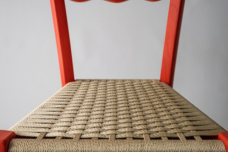 Rope Italian Countryside Wooden Chair