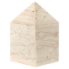 Italian Cream Architectural Marble Obelisk