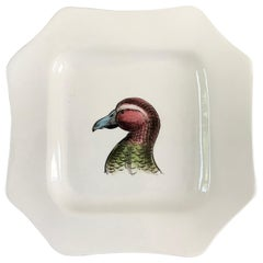 Italian Creamware Bird Plate