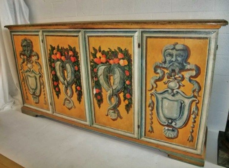 Wood Italian Credenza, 18th Century For Sale