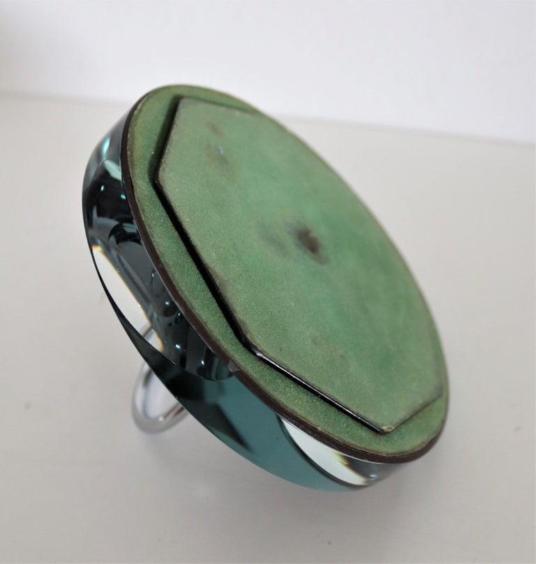 Italian Crystal Ashtray or Vide-Poche by Fontana Arte, 1960s For Sale 5