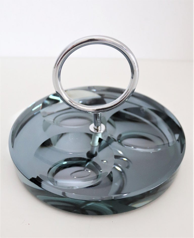 Italian Crystal Ashtray or Vide-Poche by Fontana Arte, 1960s For Sale 2