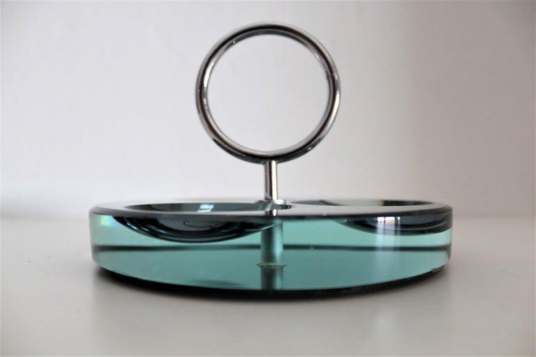 Italian Crystal Ashtray or Vide-Poche by Fontana Arte, 1960s For Sale 3