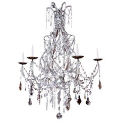 Italian Crystal Beaded Chandelier