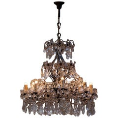 Italian Crystal Drops Chandelier