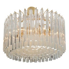 Italian Crystal 'Drum' Chandelier