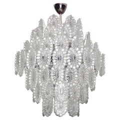 Italian Crystal Glass Chandelier in the Style of Mazzega, 1 of 2