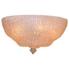 Italian Crystal Murano Glass Ceiling Light by Murano Due
