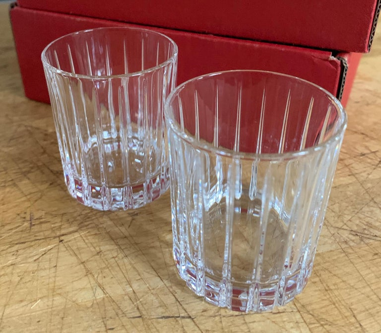 Mid-Century Modern Italian Crystal Shot Glasses For Sale