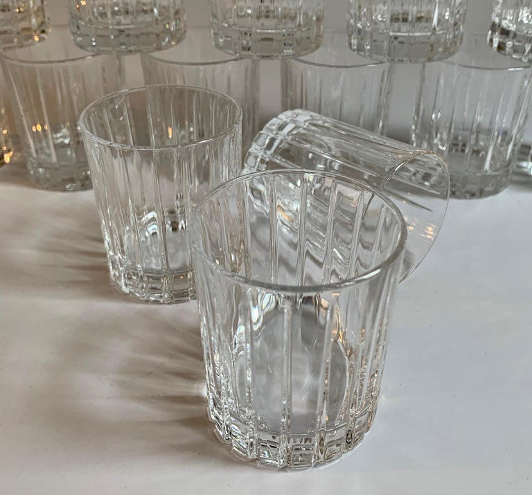20th Century Italian Crystal Shot Glasses For Sale