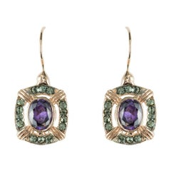 Italian Crystal Vermeil Antique Style Earrings