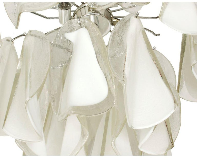 Italian Custom Blown Glass Modern Chandelier In Good Condition For Sale In Locust Valley, NY