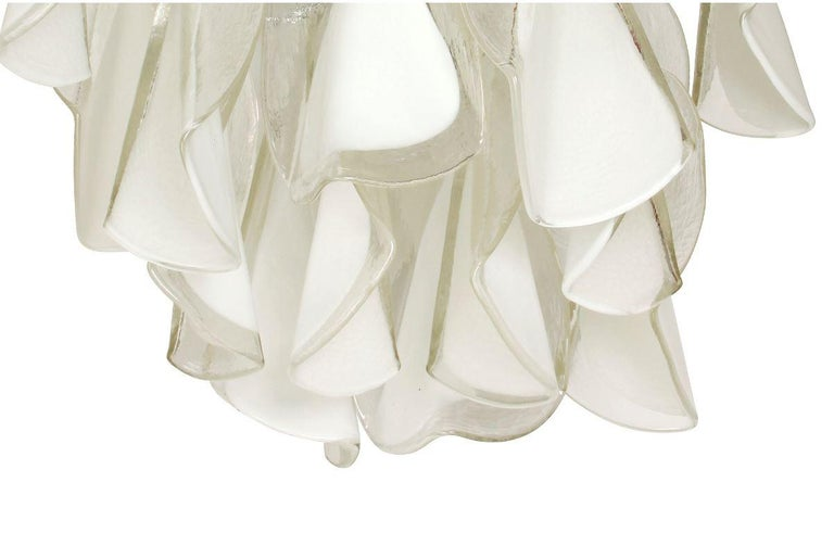 20th Century Italian Custom Blown Glass Modern Chandelier For Sale