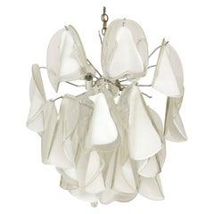 Italian Custom Blown Glass Modern Chandelier