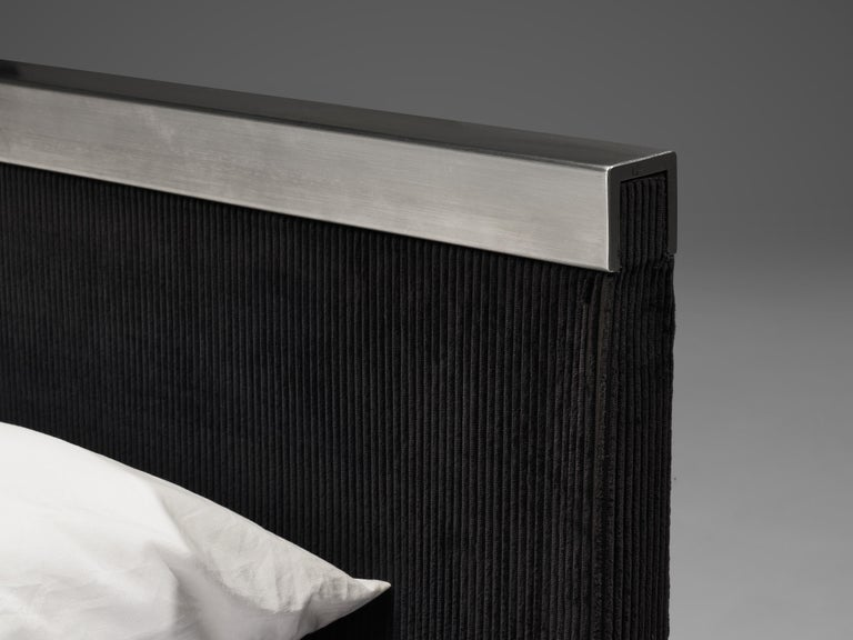 Italian Custom-Made Bed by Bazzani with Gianni Moscatelli Nightstands For Sale 2