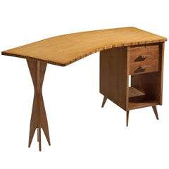 Italian Custom-Made Writing Desk and Chair