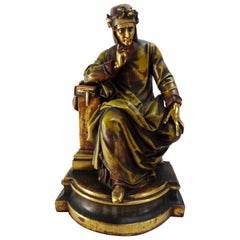 Italian Dante Statue, 19th Century
