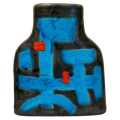 Italian Decorative Midcentury Ceramic Vase Signed by Guido Gambone