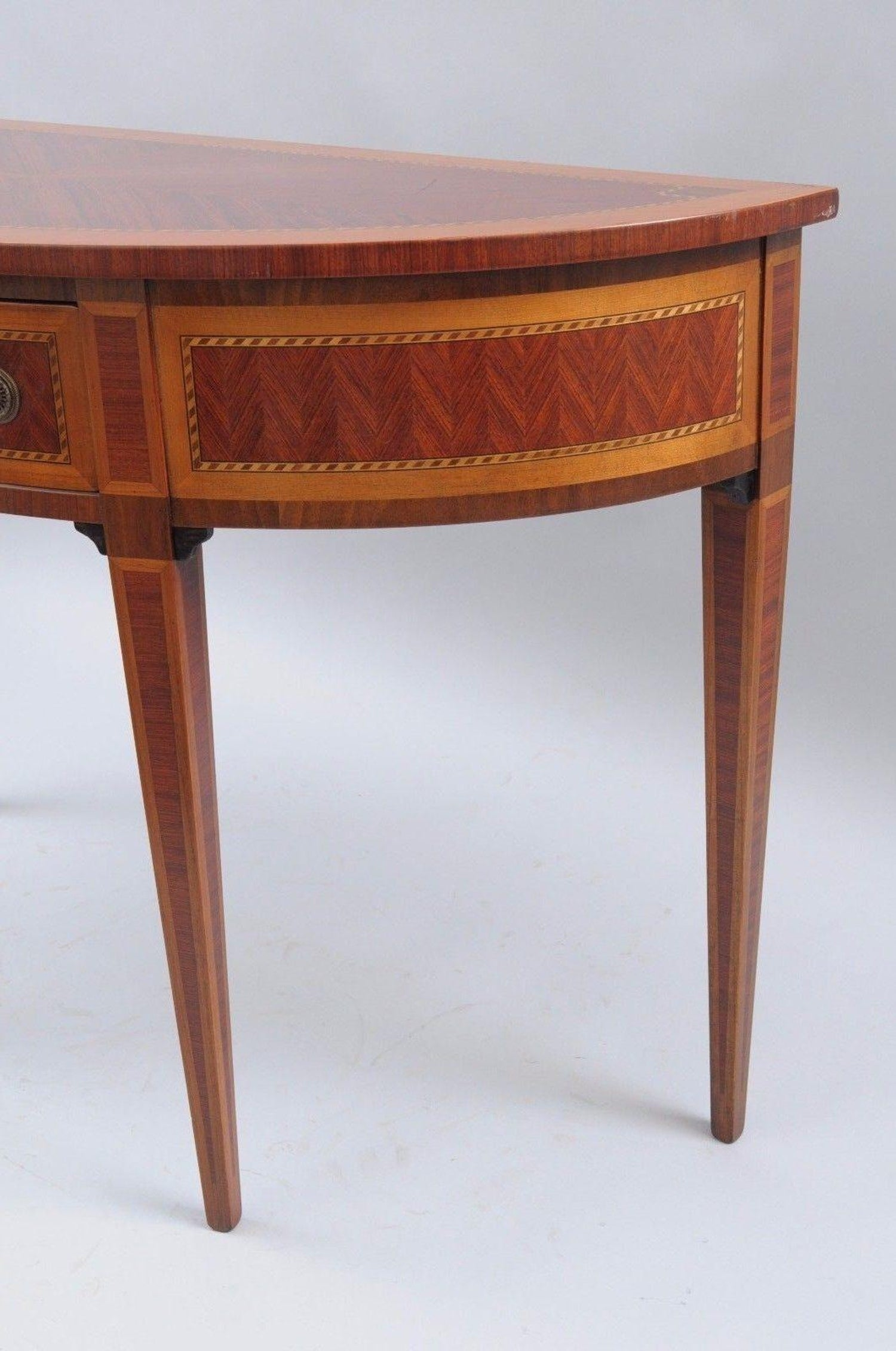 Italian Demilune Console Hall Table One Drawer Decorative Crafts Inc