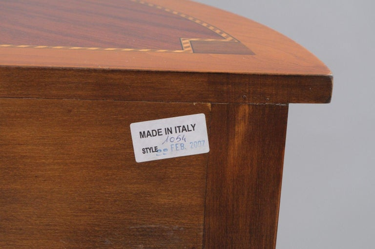 Contemporary Italian Demilune Console Hall Table One Drawer Decorative Crafts Inc For Sale